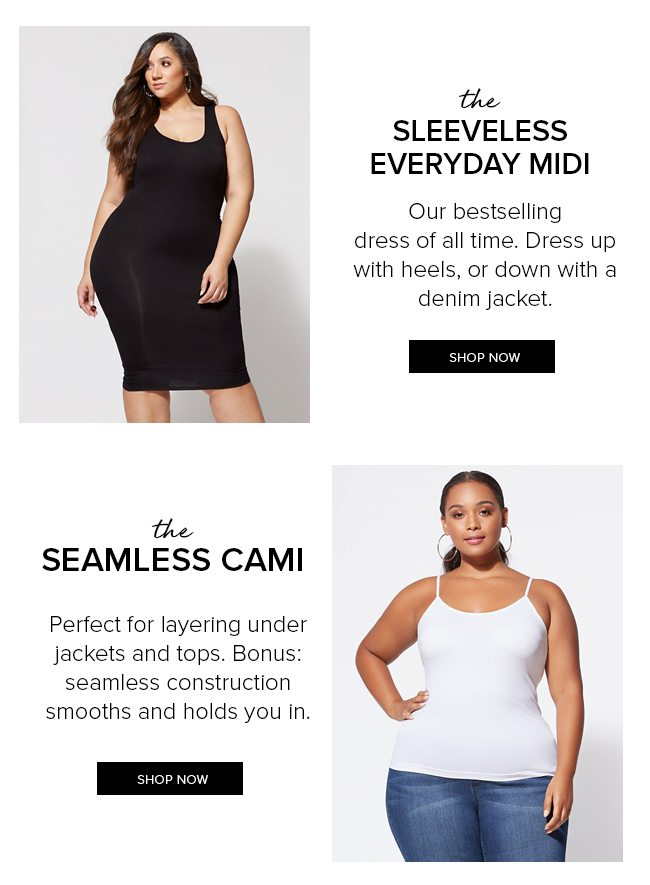 The Sleeveless Everyday Midi Dress & The Seamless Cami