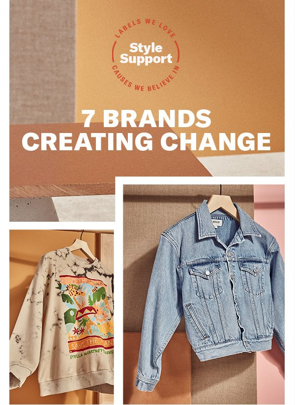 How labels like Stella McCartney, AGOLDE, Veja & more are making a difference in fashion—right now. 20% of sales from these brands will benefit One Tree Planted through 4/30.