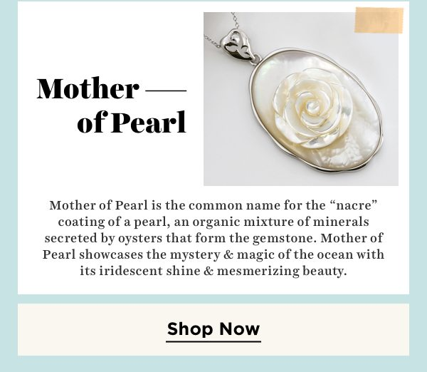Shop mother of pearl jewelry