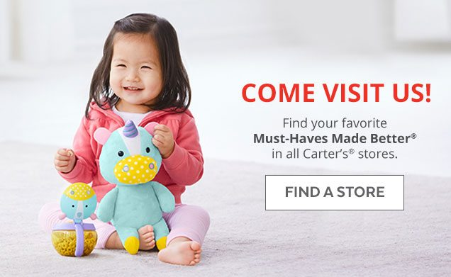 Come visit us! Find your favorite Must–Haves Made Better® in all Carter's® stores | Find a Store