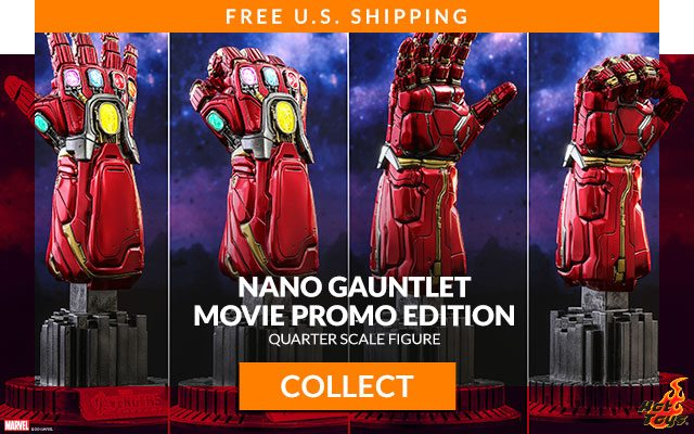 Nano Gauntlet (Movie Promo Edition) Quarter Scale Figure by Hot Toys