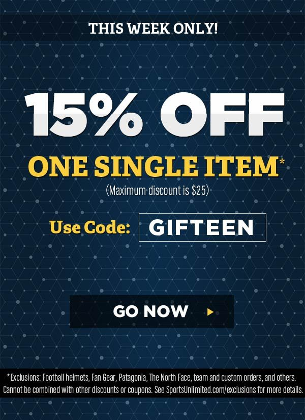 15% OFF one item - Use code: GIFTEEN (max. $25 off, excl. apply) - SHOP NOW >