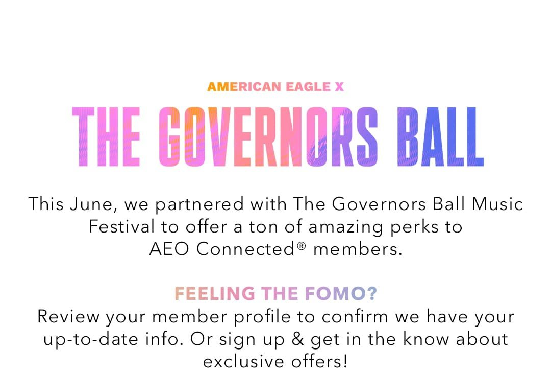 Festival Perks For Aeo Connected Members Aerie Email Archive