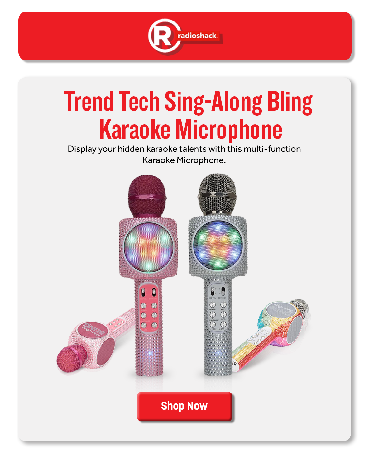 Trend Tech Sing-Along Bling Karaoke Microphone