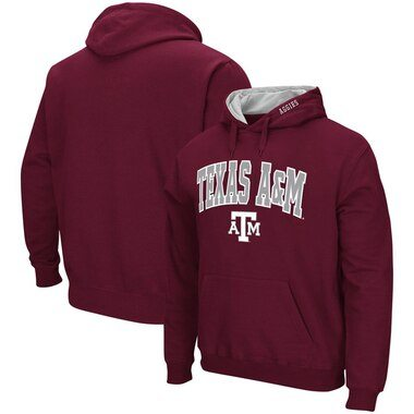 Texas A&M Aggies Colosseum Arch & Logo Tackle Twill Pullover Hoodie - Maroon