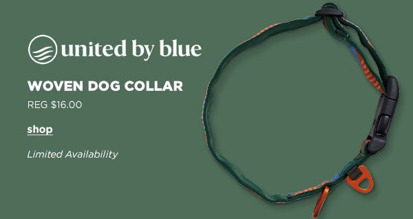 United by Blue Woven Dog Collar - Click to Shop