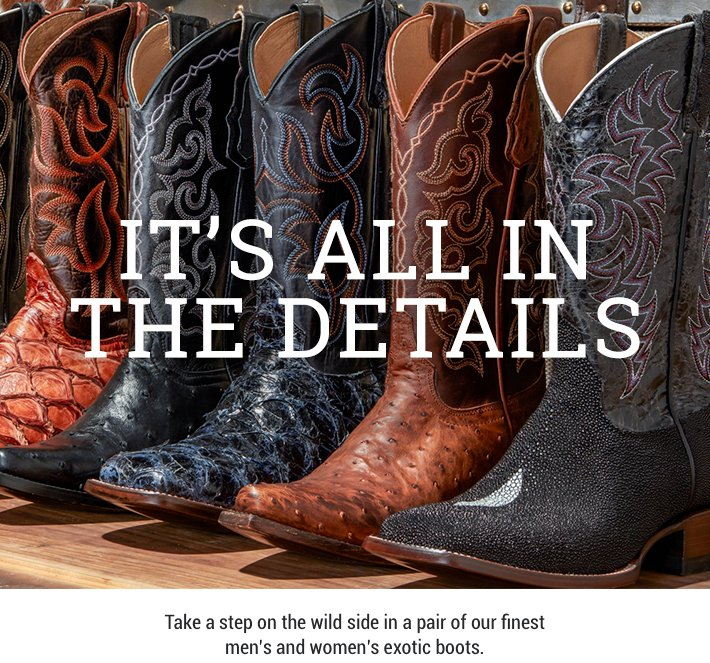 1051cd7fe62 It's All In The Details – Bold Exotic Boots - Boot Barn Email Archive