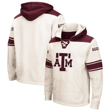 Texas A&M Aggies Colosseum 2.0 Lace-Up Hoodie - Cream