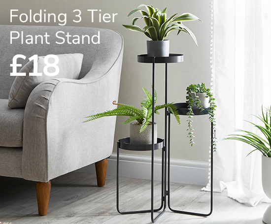 Folding 3 Tier Plant Stand