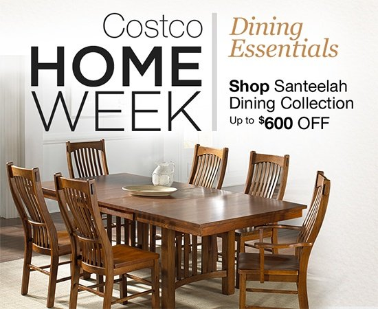 costco home week save on dining furniture dinnerware glassware rh emailtuna com