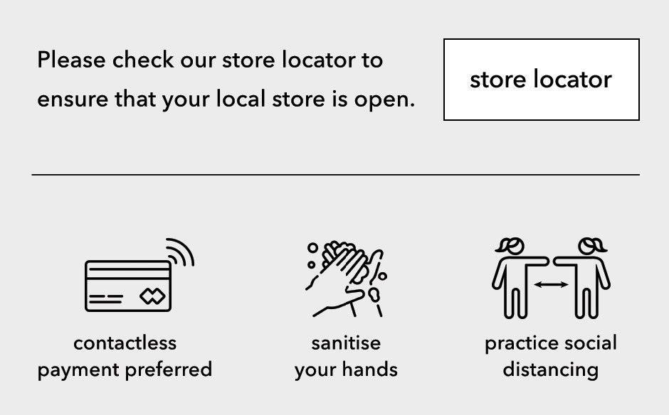 Check our store locator to ensure that your local store is open