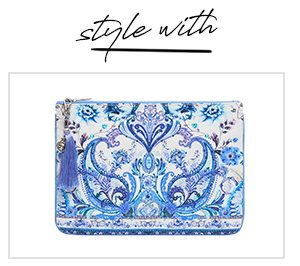 """""""Style With"""" SMALL CANVAS CLUTCH TALKING ABOUT A REVOLUTION"""