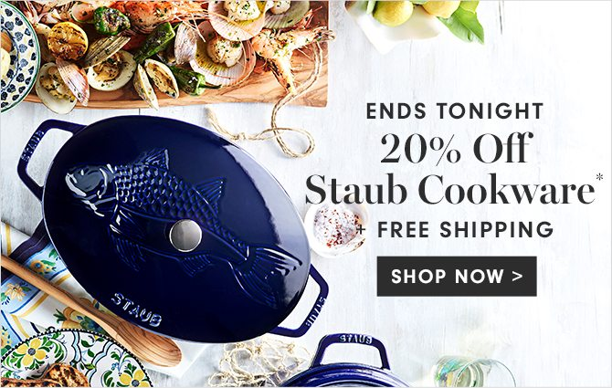 20% Off Staub Cookware* + FREE SHIPPING - SHOP NOW
