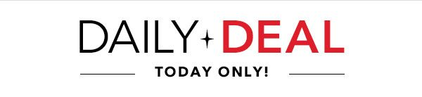 Today Only! Daily Deal
