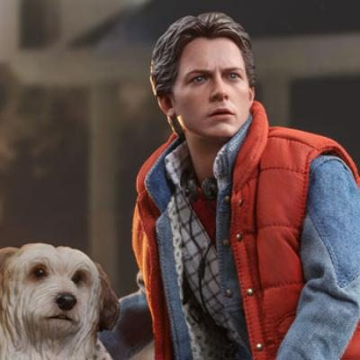Marty McFly and Einstein (Back to the Future) Sixth Scale Figure Set by Hot Toys