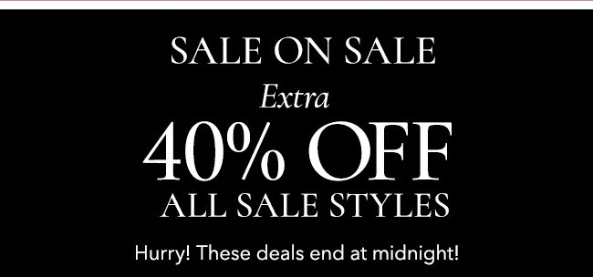40% off sale styles.