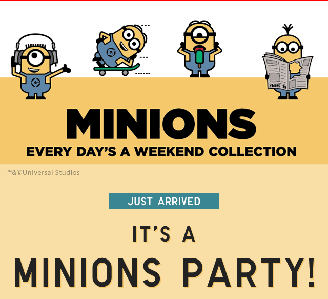 ebd008902 NEW IN UT: GRAPHIC TEES. MINIONS - EVERY DAY'S A WEEKEND COLLECTION