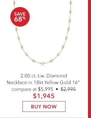 Diamond Necklace in 18kt Yellow Gold. Buy Now