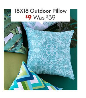 Outdoor Accent Pillow 18X18 Was: $39, Now: $9