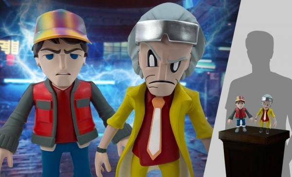 Doc and Marty Vinyl Collectible Set by 3D Retro