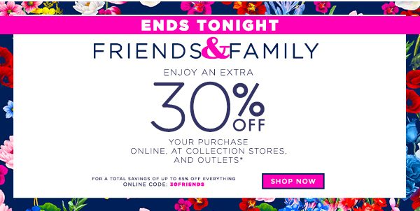 Last Day - Friends and Family with Extra 30% OFF Your Order