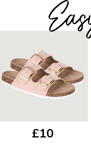 Stone Buckle Sandals
