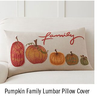 Pumpkin Family Lumbar Pillow Cover