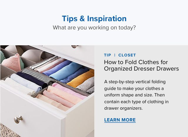 How to Fold Clothes for Organized Dresser Drawers ›
