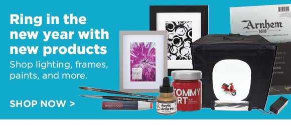 Ring in the new year with new products - Shop lighting, frames, paints, and more.