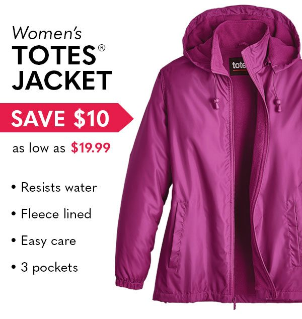Women's Totes Jacket as low as $19.99