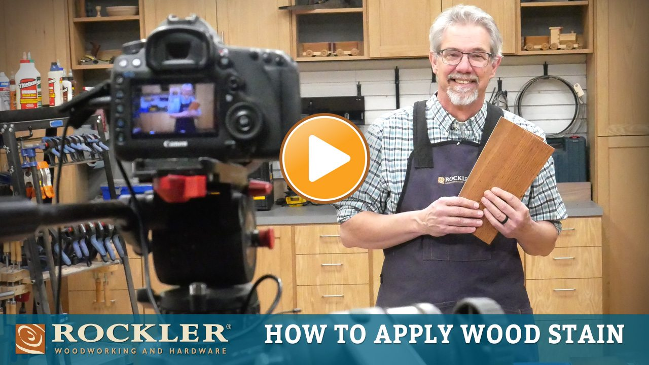 How to Apply Wood Stain Video
