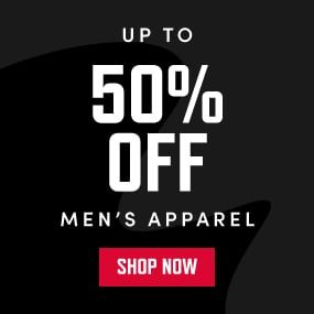 UP TO 50% OFF MEN'S APPAREL