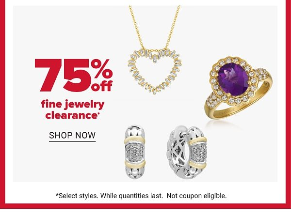 Daily Deals - 75% off fine jewelry clearance. Shop Now.