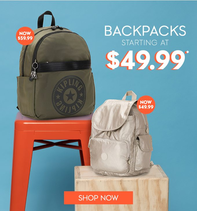 Backpacks Starting at $49.99. Shop Now