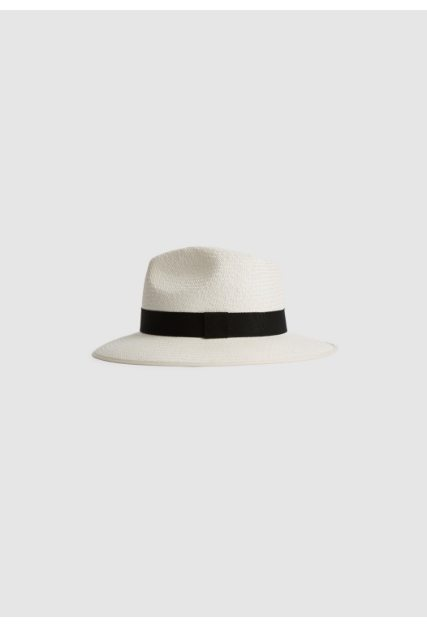 Ivy White Woven Hat