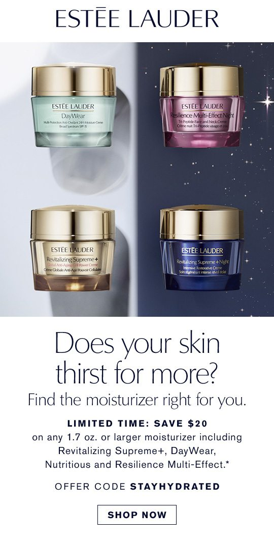 Does your skin thirst for more? | SHOP NOW
