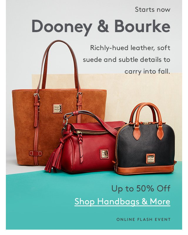 Starts Now Dooney Bourke Richly Hued Leather Soft Suede And Subtle