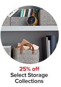 25% off select storage