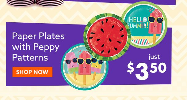 Paper Plates with Peppy Patterns $3.50