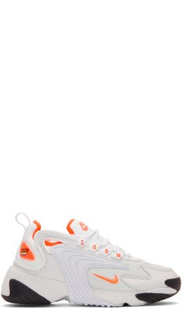 Nike - Off-White & Orange Zoom 2K Sneakers