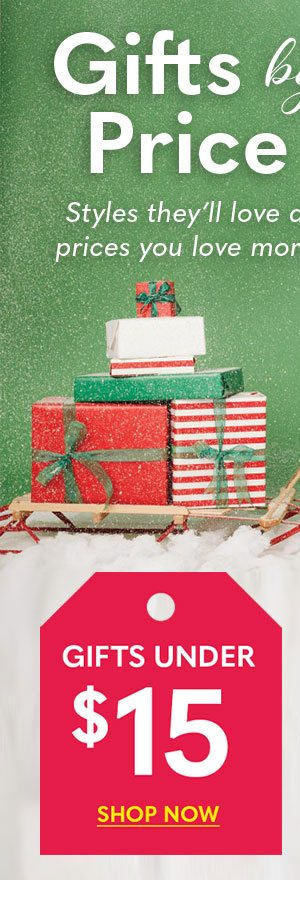 Shop Gifts by Price under $15