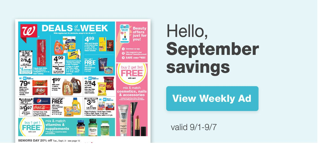 New month, new ways to save! - Walgreens Email Archive