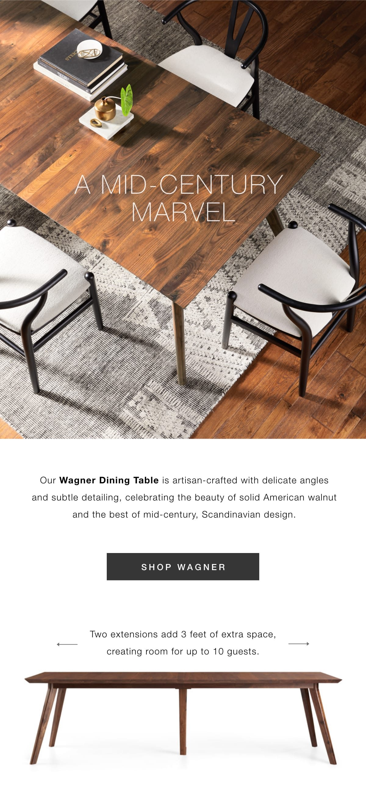 A mid-century marvel: shop Wagner