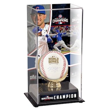Kris Bryant Chicago Cubs Fanatics Authentic 2016 MLB World Series Champions Autographed World Series Logo Baseball and Baseball Display Case with Image