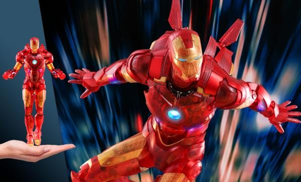 NOW AVAILABLE Iron Man Mark IV (Holographic Version) Sixth Scale Figure by Hot Toys