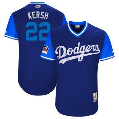 "Clayton Kershaw ""Kersh"" Los Angeles Dodgers Majestic 2018 Players' Weekend Authentic Jersey - Royal/Light Blue"