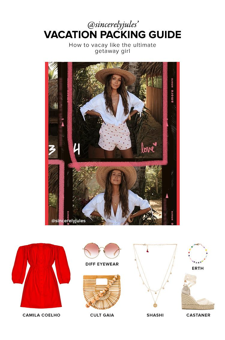 @sincerelyjules' Vacation Packing Guide. How to vacay like the ultimate getaway girl. SHOP NOW.