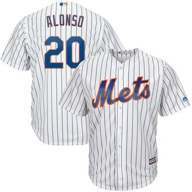 Pete Alonso New York Mets Majestic Home Official Cool Base Player Jersey - White