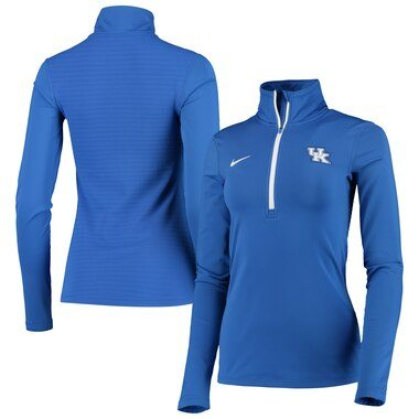 Kentucky Wildcats Nike Women's Warm Top Performance Half-Zip Pullover Jacket - Royal