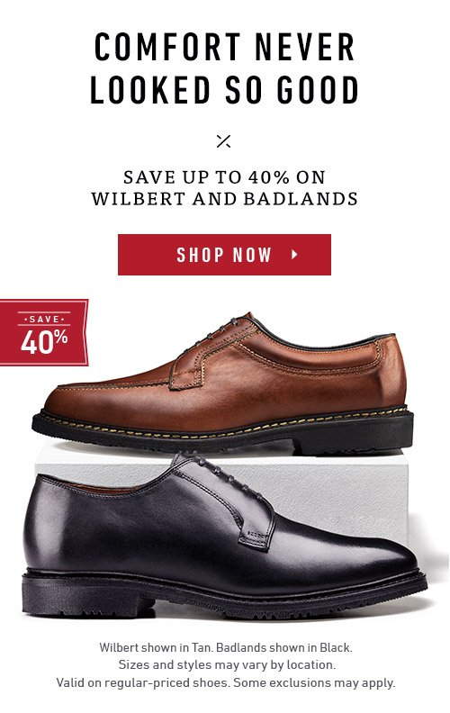 Save up to 40% on Wilbert and Badlands